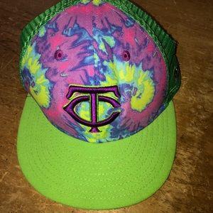 MN TWINS TYE DYE new ear trucker cap